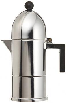A di Alessi A9095/1 B La Cupola Caffettiera Espresso in Fusione di Alluminio, Manico e Pomolo in PA, Nero – Miglior Prezzo