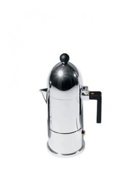 Alessi A9095/3 B La Cupola Caffettiera Espresso in Fusione di Alluminio, Manico e Pomolo in PA, Nero – Miglior Prezzo