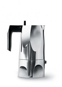Alessi Ossidiana – Moka/Caffettiera espresso in fusione di alluminio – 3 tazze – Miglior Prezzo