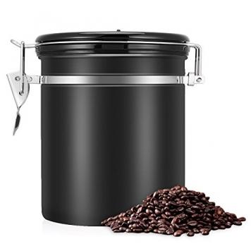 Barattolo Caffè EECOO 1,4 L Ermetico in Acciaio Inox, Valvola Unidirezionale – Miglior Prezzo