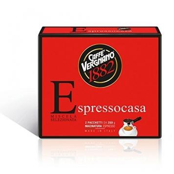 Caffè Vergnano 1882 Espresso Casa, 2×250 gr – 2 Pacchetti – Miglior Prezzo
