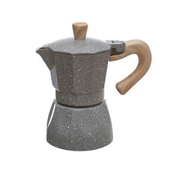 Caffettiera con manico effetto legno – Miglior Prezzo