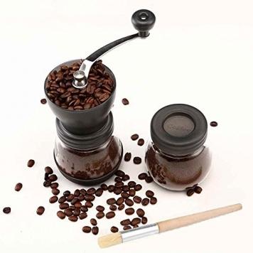 Cooko Macinacaffè Manuale, Premium Regolabile Grinder in Ceramica Burr, Macinino Per Chicchi di Caffè o Spezie – Miglior Prezzo