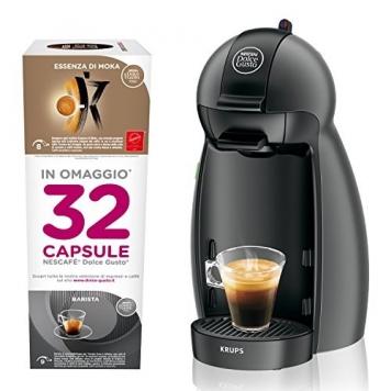 Dolce Gusto KP100BKP Nescafe Piccolo Macchina per Caffe Espresso e Altre Bevande – Miglior Prezzo