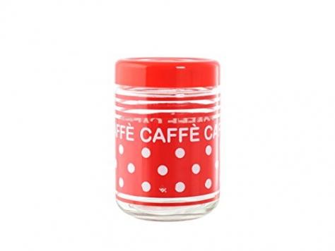 Home Acapulco Pois Barattolo Caffè, 800 ml, Trasparente/Rosso, 10x1x10 cm – Miglior Prezzo