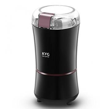KYG Macinacaffè Elettrico 300W con Lame in Acciaio Inox Inossidabile – Miglior Prezzo