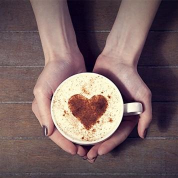 Liroyal, stampini per cappuccino o caffè, set da 16 pezzi, colore bianco white. – Miglior Prezzo