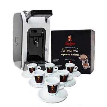 Macchina a cialde Spinel Ciao + Aromagic Cialde Caffè 100 PZ + Set Tazzine Premium – Caffè Barbera – Miglior Prezzo