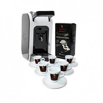 "Macchina per Cialde Caffè ""Spinel Ciao"" + 18 Cialde Caffè ""Aromagic"" + Set Tazzine Premium – Caffè Barbera – Miglior Prezzo"
