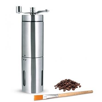 Macina Caffè Manuale, macina in ceramica con spazzola di pulizia – Miglior Prezzo