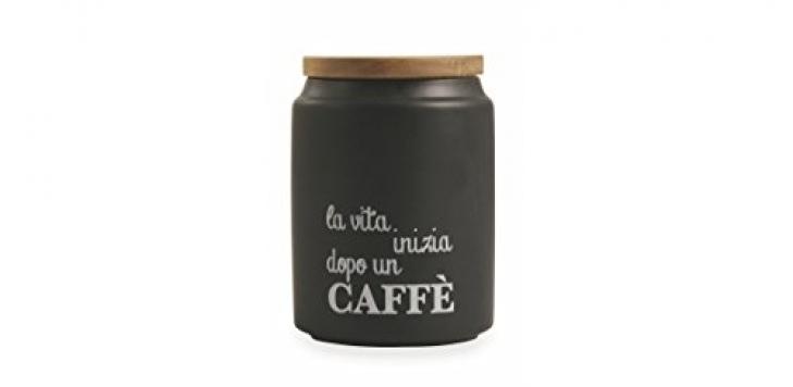 Villa d'Este Home Tivoli Idee Barattolo Caffè, Gres, Nero – Miglior Prezzo