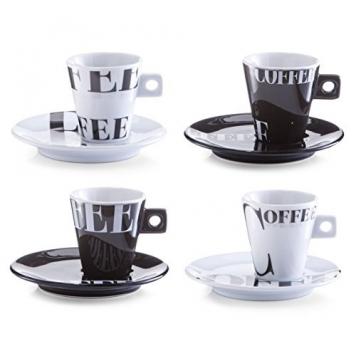 Zeller Coffee Style 26540 Set caffè espresso in porcellana, 8 pezzi – Miglior Prezzo